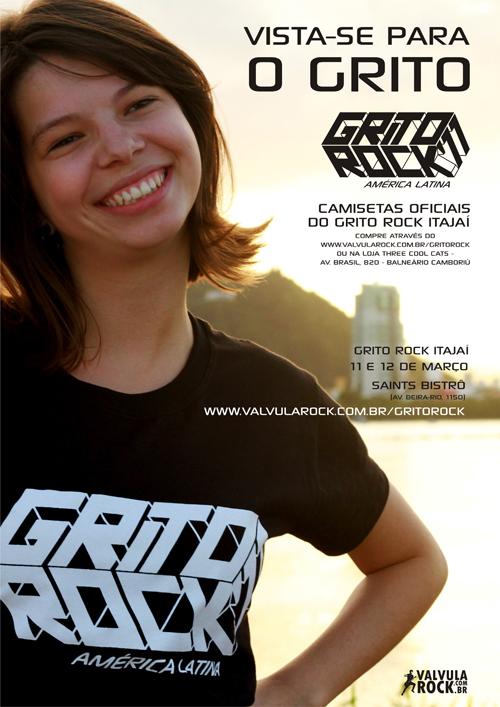"""Grito Rock Itajaí lança camisetas e campanha """"vista-se para o grito"""""""