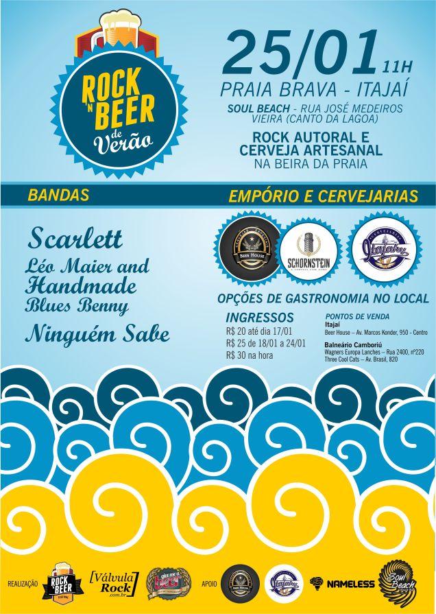 Cartaz Rock-n Beer de Verão